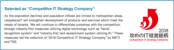 Selected as Competitive IT Strategy Company